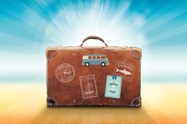 slunce za kufrem
