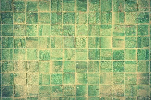Zelené koupelnové dlaždice
